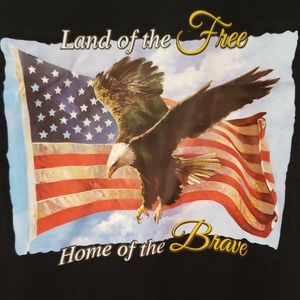 "Mens Size Large Tee Shirt ""home of the brave"""